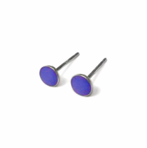 Perfectly Purple Stud Earrings, Sterling Silver Posts and Backs, Violet Earrings - $13.50