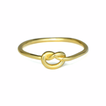 Gold Knot Ring, Simple Infinity Knot Ring, Bridesmaid Gift - $12.00
