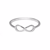 Thin Silver Infinity Knot Ring, Dainty Modern 925 Sterling Silver Eterni... - $15.00