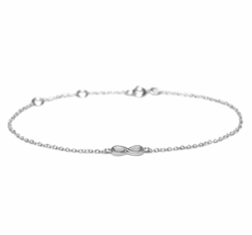 Silver Infinity Chain Bracelet, 925 Sterling Silver Bracelet, Bridesmaid... - $13.00
