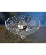 Mikasa Holiday  Classics~Footed Crystal Bowl in Original Packaging - $9.99
