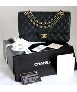 """CHANEL Med 10"""" BLACK 2.55 Quilted CAVIAR Leathe... - $4,349.00"""