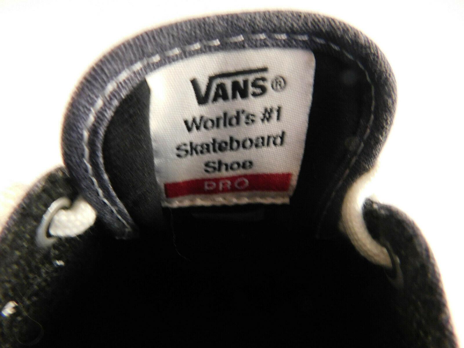 Vans Gilbert Crockett PRO Denim Suede Size 8.5 Men's Skateboard Shoe image 8