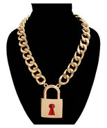 Body Silhouette Lock Chain Necklace - $17.00