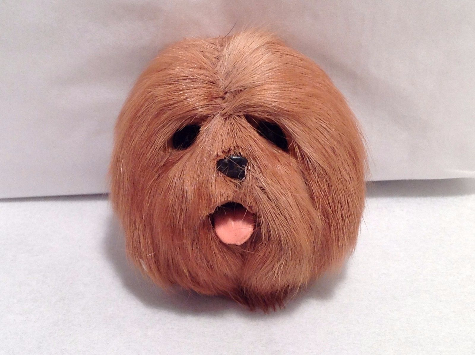 New LHASA APSO Brown Dog Refrigerator Magnet Soft Furry 3D