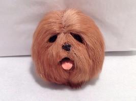 New LHASA APSO Brown Dog Refrigerator Magnet Soft Furry 3D