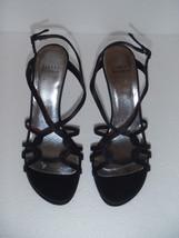 Stuart Weitzman Black Satin Slingback Strappy Sandal Size 7.5 - $139.86