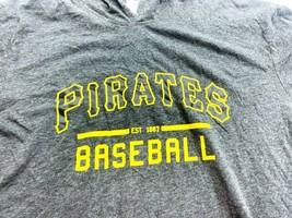 MLB Pittsburgh Pirates Baseball Hooded Sweatshirt Size XL Gray  - $14.30
