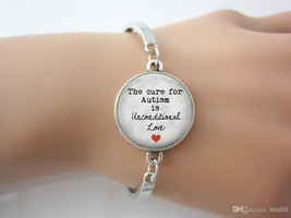 The Cure for Autism is Unconditional Love Pendant bangle - $15.00