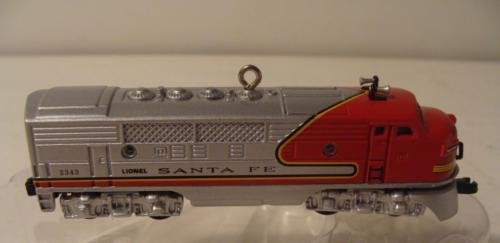 1950 Santa Fe F3 Diesel Locomotive Lionel Train Hallmark Ornament & Box 1997 2nd