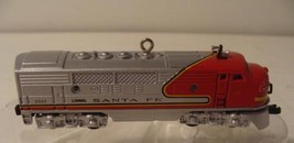 1950 Santa Fe F3 Diesel Locomotive Lionel Train Hallmark Ornament & Box 1997 2nd