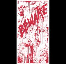 Psycho Dexter Zombie--BEWARE BLOODY DOOR COVER--Halloween Horror Prop De... - $7.89
