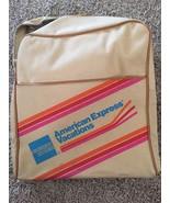 "Vintage American Express Vacations Tan Travel Bag, 13""x14""x5.5"" - $19.99"