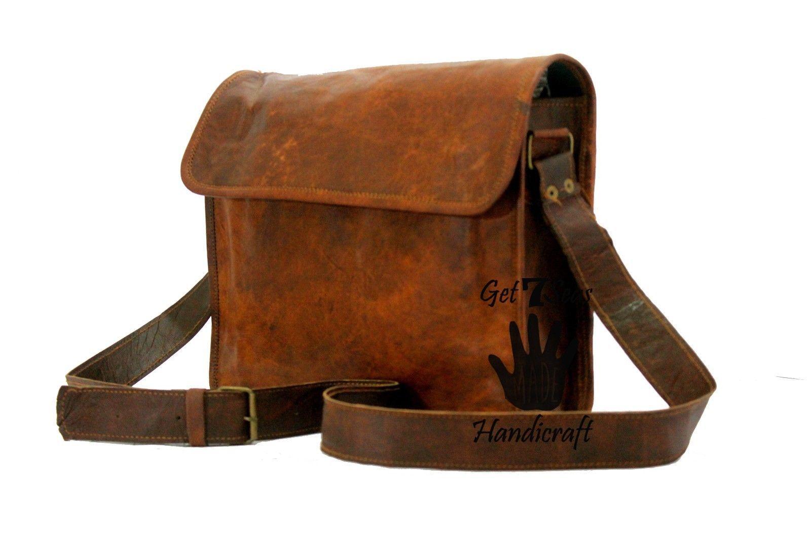 Leather satchel men's shoulder laptop women messenger cmputer men Genuine bags image 4