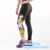 Adventure Time Stretch Pants Workout Spandex Leggings Yoga Pants for Her... - $23.49