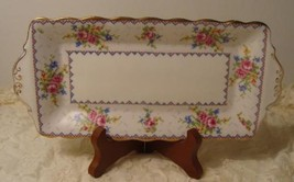 Royal Albert England Petit Point Small Sandwich Tray Shabby Country Cottage