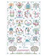 Shabby Summer Calendar cross stitch chart Cuore e Batticuore  - $15.30