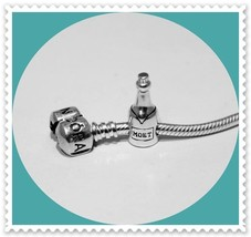 "BRAND NEW!! Solid 925 Sterling Silver ""MOET WINE BOTTLE"" European Charm ... - $19.75"