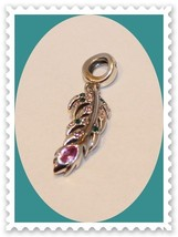 BRAND NEW!! Solid 925 Sterling Silver JEWELED ROSE BRANCH European Dangl... - $17.77
