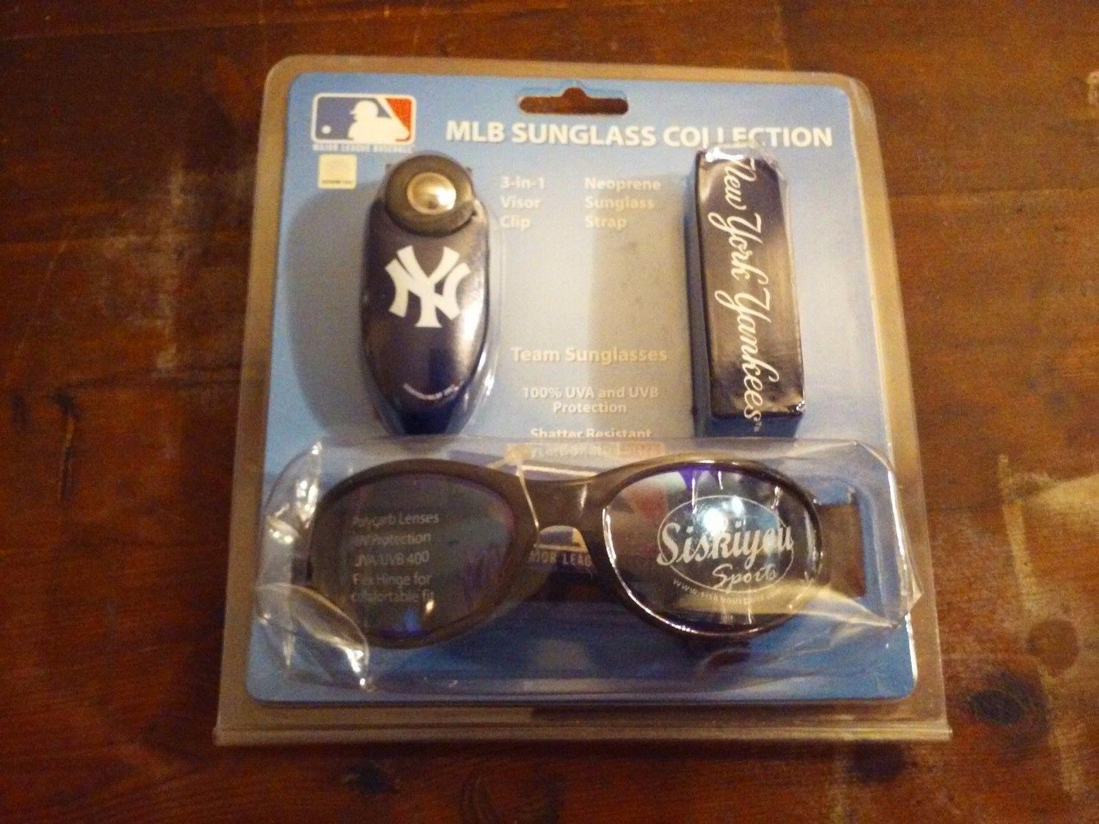 NY Yankees MLB Sunglass Collection 3 in 1 Visor Clip Neoprene Sunglass Strap