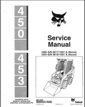 Bobcat 450 - 453 Skid Steer Loader Service Repair Manual CD - $12.00