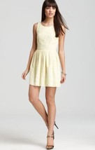 "JOIE ""SOLEIL"" EMBROIDERED YELLOW FIT & FLARE DRESS --- XS - $138.38"
