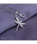 "925 sterling silver dragonfly 1"" pendant necklace with 925 SS Chain. US ... - $19.99"