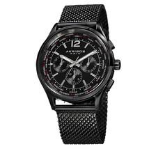 "Men's Akribos XXIV AK716 Multifunction Day Date Stainless Steel Mesh Watch ""New"" - £101.57 GBP"
