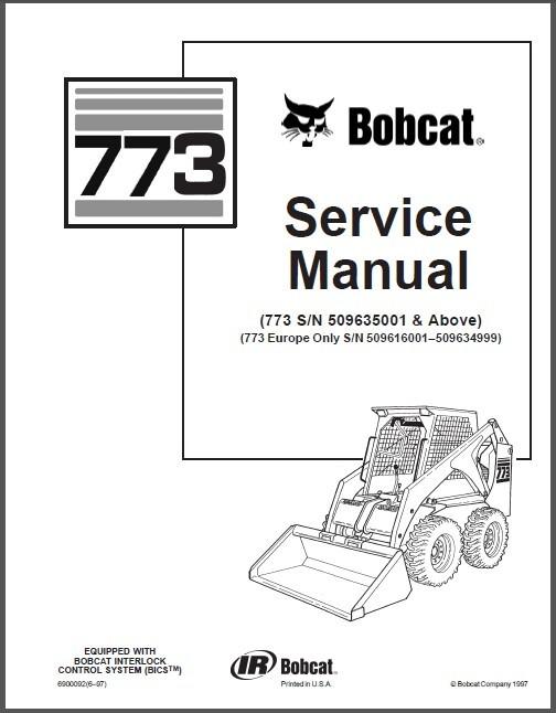 Bobcat 773 Skid Steer Loader Service Repair And 50 Similar Items