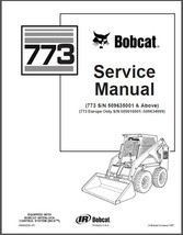 Bobcat 773 Skid Steer Loader Service Repair Manual CD - $12.00