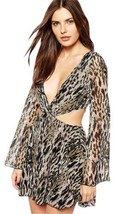 "FOR LOVE & LEMONS  $257 ""LEOPARD/CUT OUT"" MINI... - $99.11"