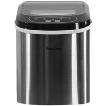 Magic Chef MCIM22ST 27-Pound-Capacity Portable Ice Maker (Stainless with Blac... - $157.23