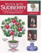 Christmas Kisses Sudberry House Cross Stitch Pattern No 86 Poinsettia St... - $3.95