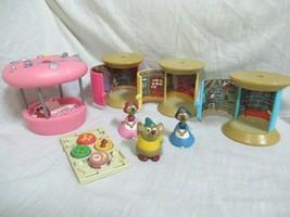 Disney Cinderella playset Mice Thread Spool Rooms Pin Cushion Bed Table... - $49.49