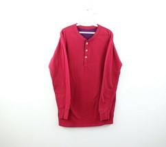 Vintage 90s Duofold Mens Medium Faded Blank Wool Blend Long Sleeve Henle... - £27.96 GBP