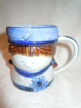Vintage Retro Girl With Flower Ceramic Mug Japan - $8.99