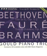 Beethoven, Faure, Brahms BBC Music CD Vol. IV #12 Exclusive CD Gould Pia... - $5.94