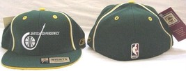 REEBOK SEATTLE SUPERSONICS HAT NEW 7 1/4 CAP THROWBACK SUPER SONICS RETR... - €14,90 EUR