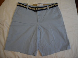 Men's IZOD Shorts Washed Chino Saltwater Chambray Blue Size 38W NEW With... - $42.56