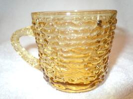 Vintage Amber Crinkle Depression Glass Mug - $3.99