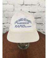 Earl Marks Auto Parts Warehouse Trucker Hat Cap White Mesh Snapback - $19.79