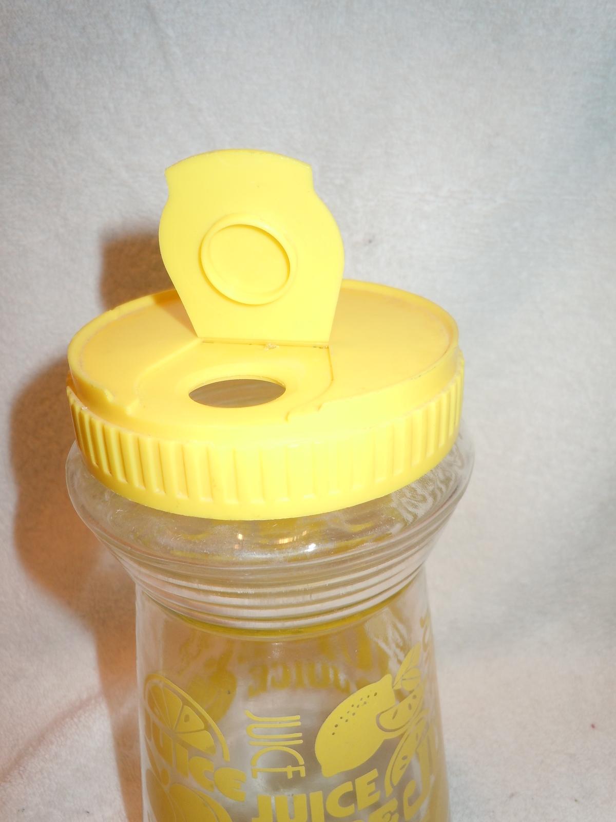 Mid Century Glass Juice Pitcher