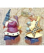 WILLIRAYE Studio Ornament Set of 2 - #WW2284 Angel with Star & Santa wit... - $29.99