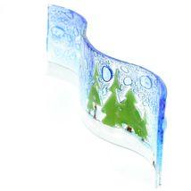Fused Art Glass Christmas Heraldic Angel Wavy Decor Sun Catcher Handmade Ecuador image 4