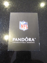 Pandora NFL Football Card Authentic Pandora Charm verification card NFL seal - $0.99