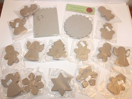 Lot Chipboard Ornaments Painting Crafts Art DIY Project Holiday Christma... - $13.01