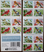 Christmas Songbirds In Snow First Class (Usps) Forever Stamps 20 - $14.95