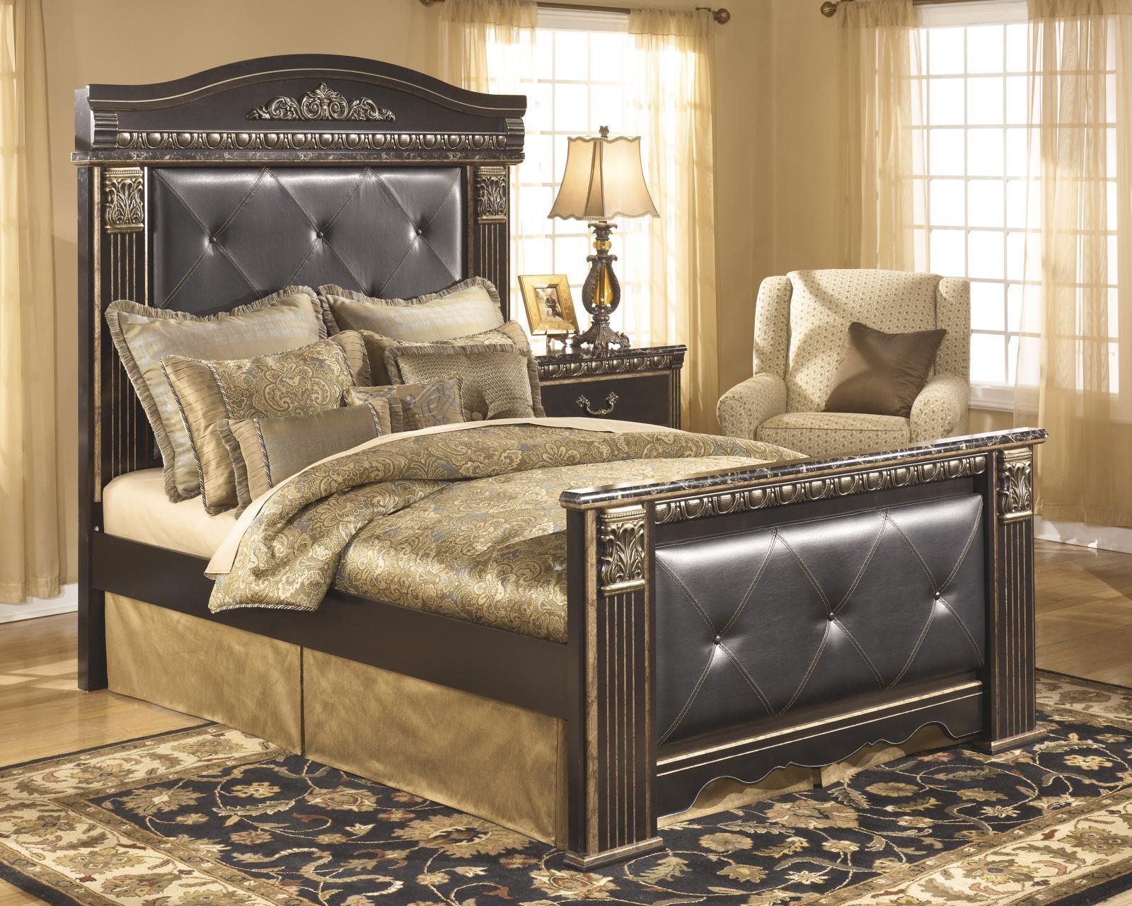 ashley coal creek b175 queen size mansion bedroom set 2 night stands