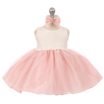 Pink Two Tone Organza Flower Baby Birthday Pageant Party Dance Wedding Dresses - $32.00