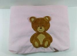 Carters Pink Plush Blanket w Bear Applique 2 Pl... - $27.99